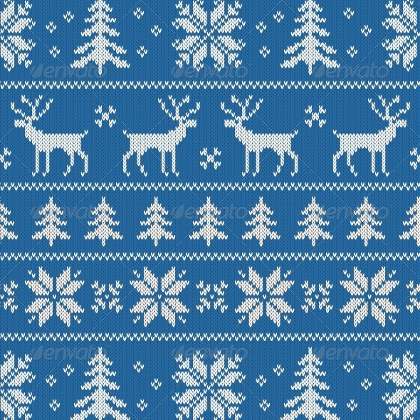 GraphicRiver Seamless Pattern with Classical Sweater Design 5834546
