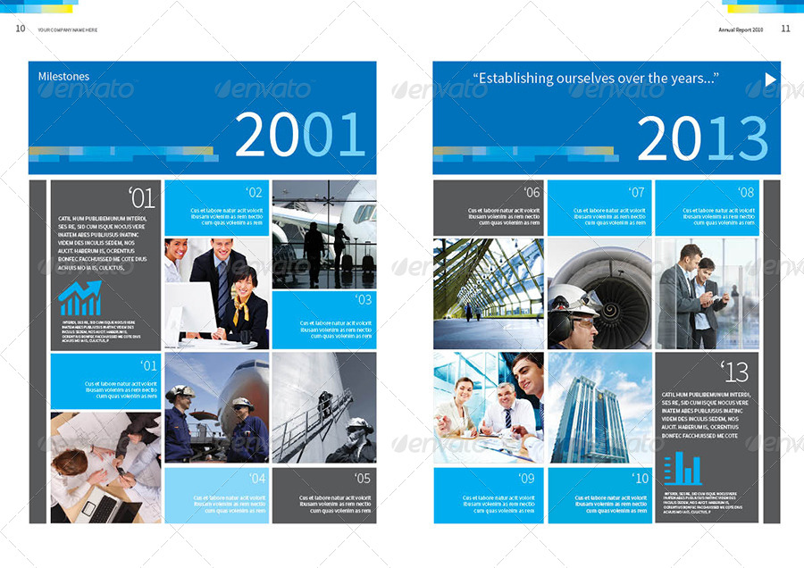 Annual Report Design Template Vol2 by thinqueber – Annual Reports Templates