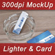 Lighter Logo and Business Card Mock-Up - GraphicRiver Item for Sale