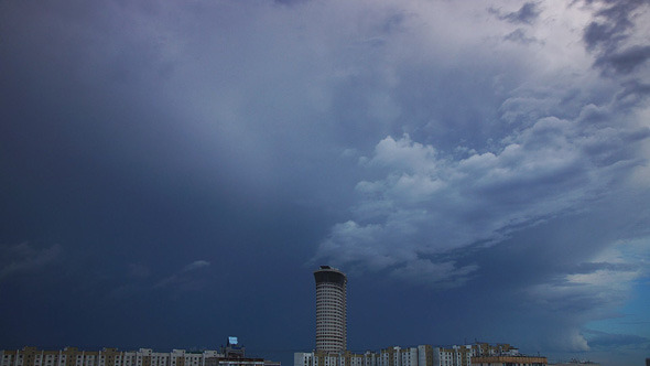 Storm Cloudscape In City