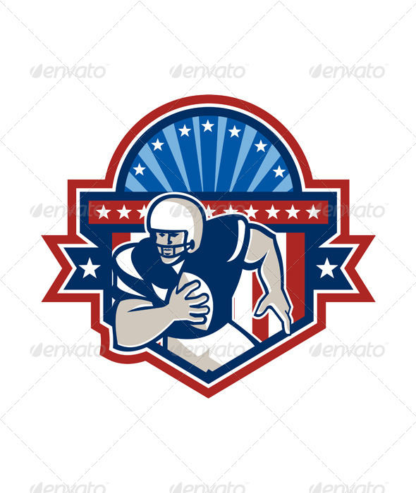 GraphicRiver American Football QB Quarterback Crest 5836002