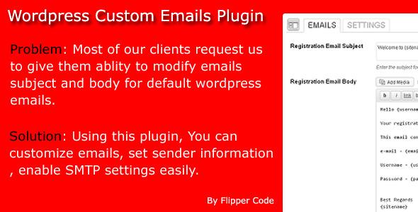 CodeCanyon Wordpress Custom Emails 5836005