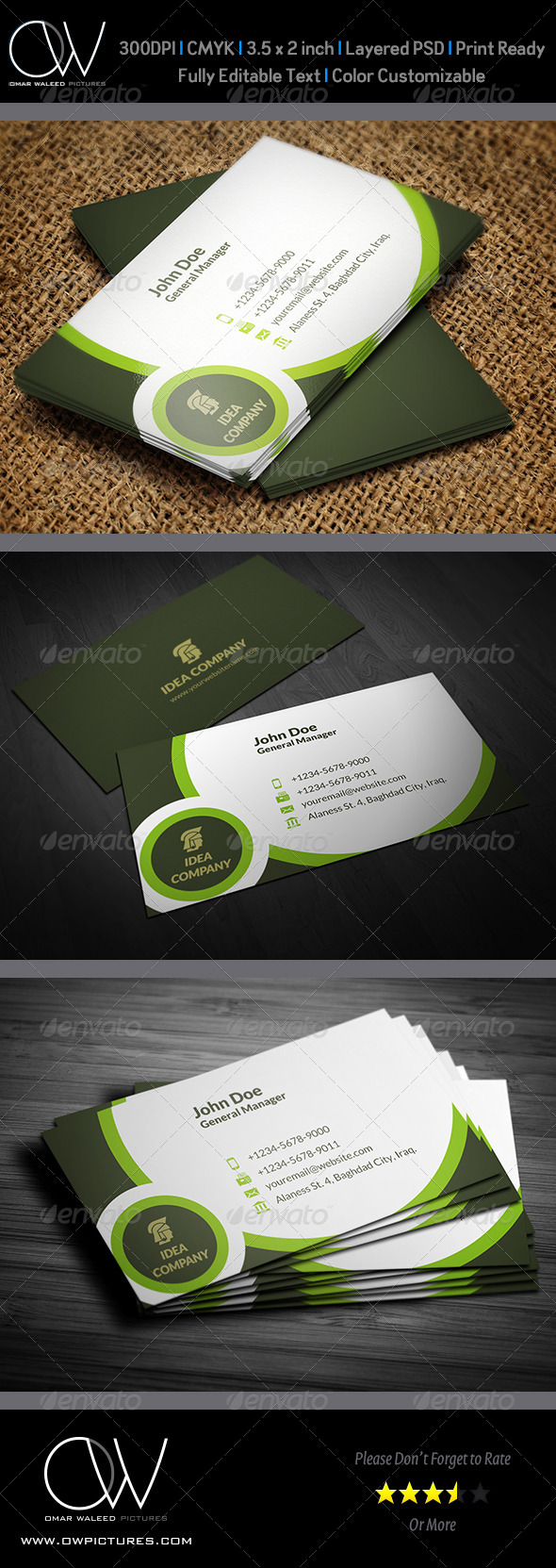 Corporate Business Card Template Vol.34 - Creative Business Cards
