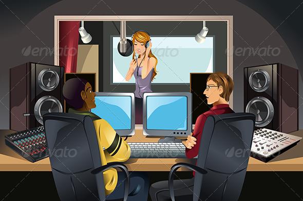 GraphicRiver Music Recording Studio 5836310