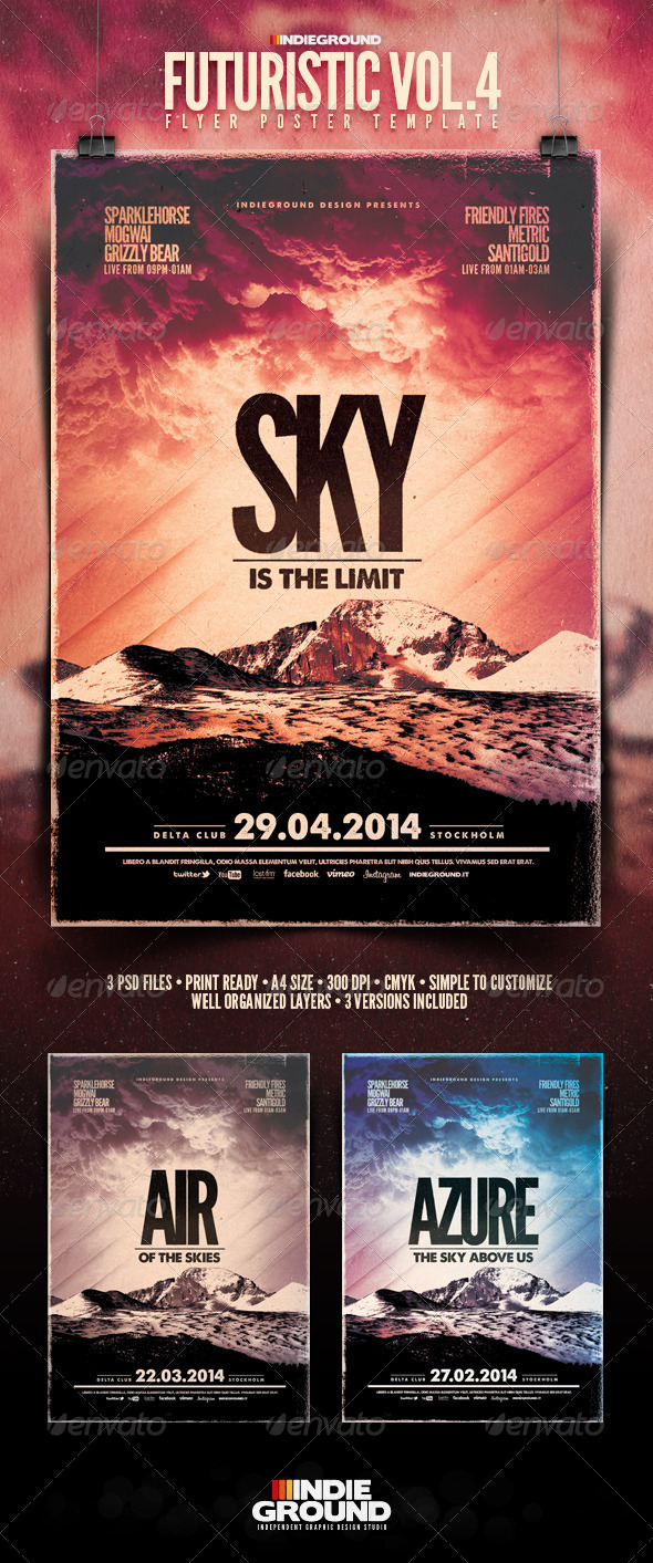GraphicRiver Futuristic Flyer Poster Vol 4 5836605