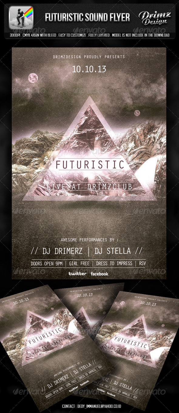 GraphicRiver Futuristic Sound Flyer 5836977