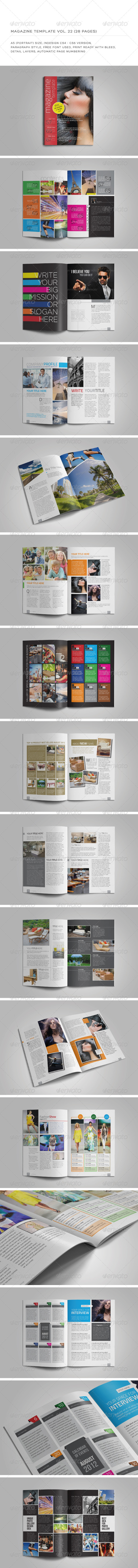 GraphicRiver A5 Portrait 28 Pages MGZ Vol 22 5837020