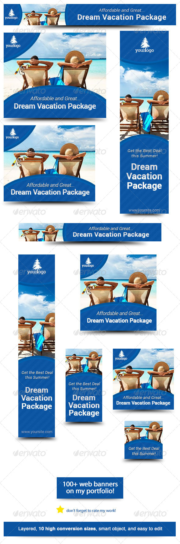 GraphicRiver Dream Vacation Web Banner Design 5837050