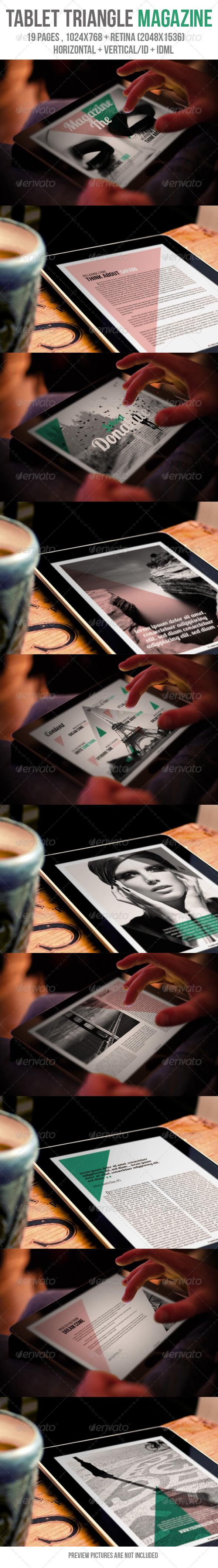 GraphicRiver Tablet Triangle Magazine 5837135