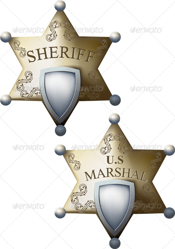 Marshal's and Sheriff Badge - Miscellaneous Characters