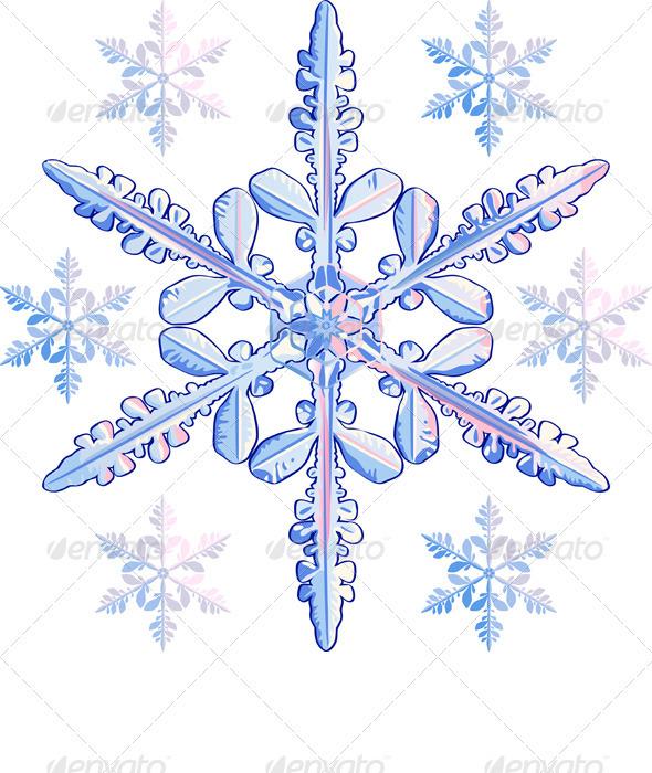 Vector Transparent Snowflake Graphicriver