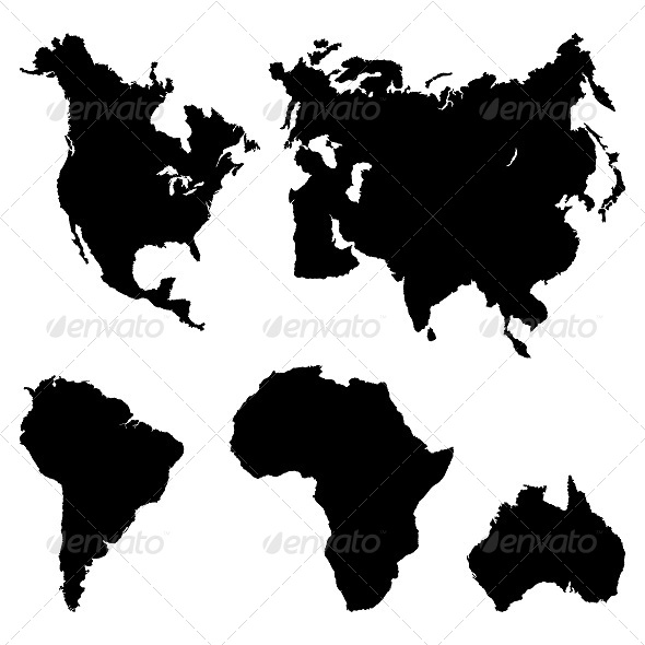 GraphicRiver Continents Pictogram 5837393