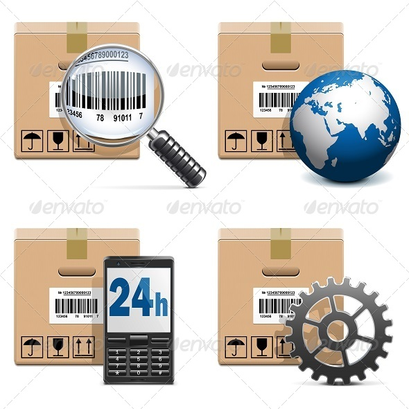 GraphicRiver Vector Shipment Icons Set 15 5837413