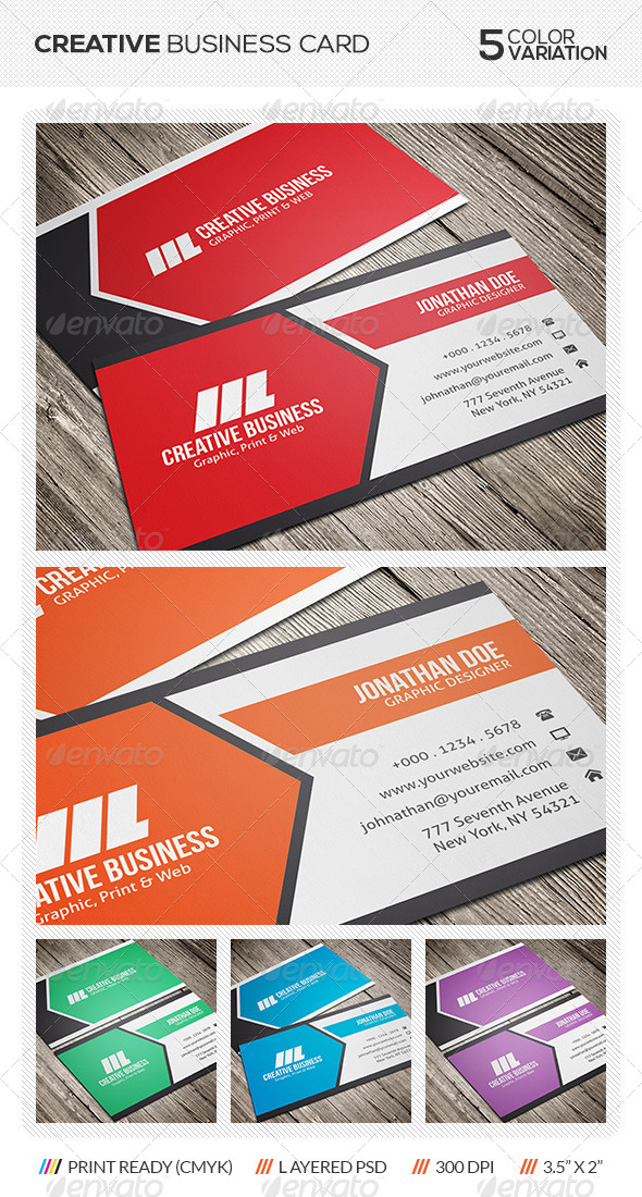 GraphicRiver Creative Business Card Design 5837422