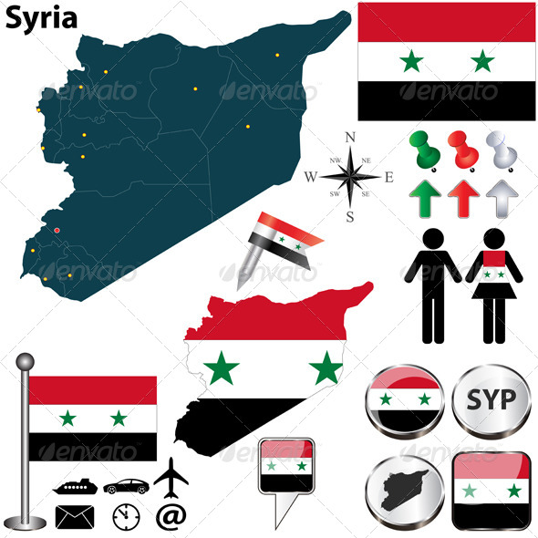 GraphicRiver Map of Syria 5837426