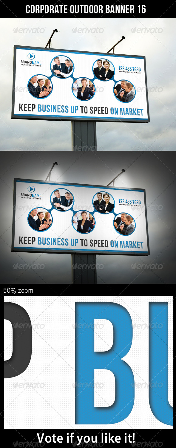 Corporate Outdoor Banner 16 - Signage Print Templates