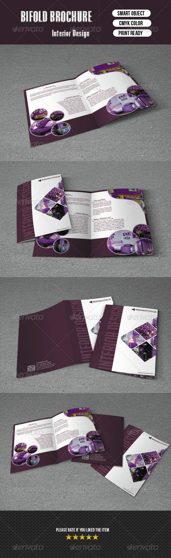 Bifold Brochure For Interior Design - Corporate Brochures
