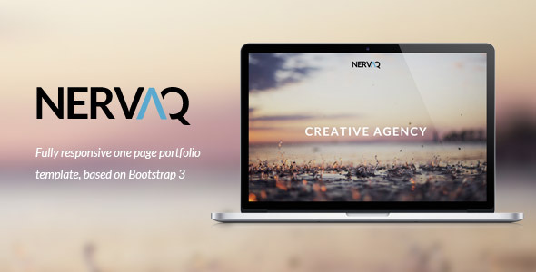Nervaq - Responsive One Page Template