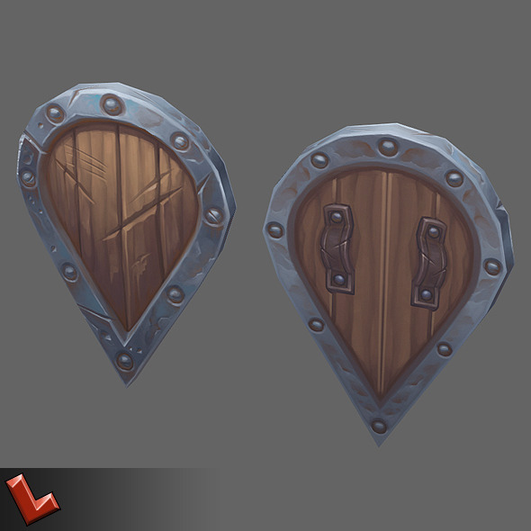 3DOcean Low poly hand painted shield [Militia 02] 5838304