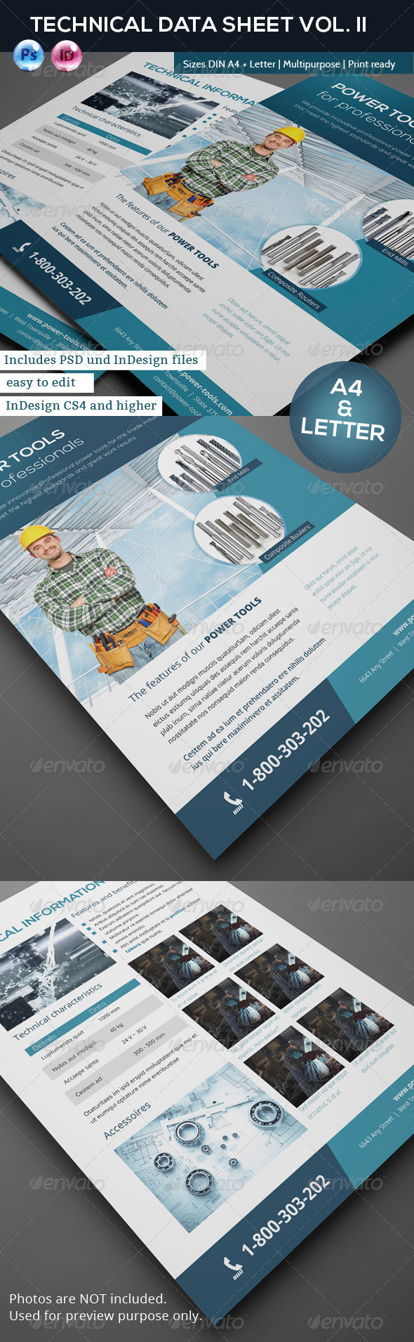 GraphicRiver Technical Data or Product Sheet Vol II 5838343