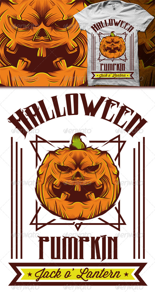 GraphicRiver Halloween T-shirt 5826864