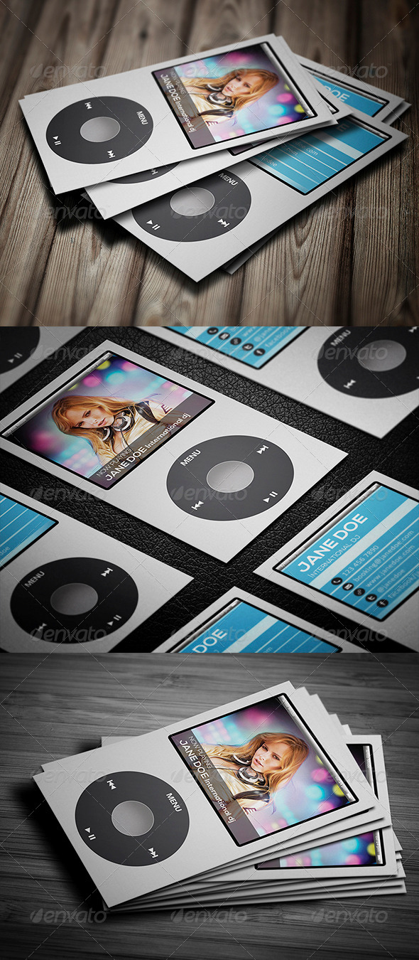 GraphicRiver I Music Business Card 5838672