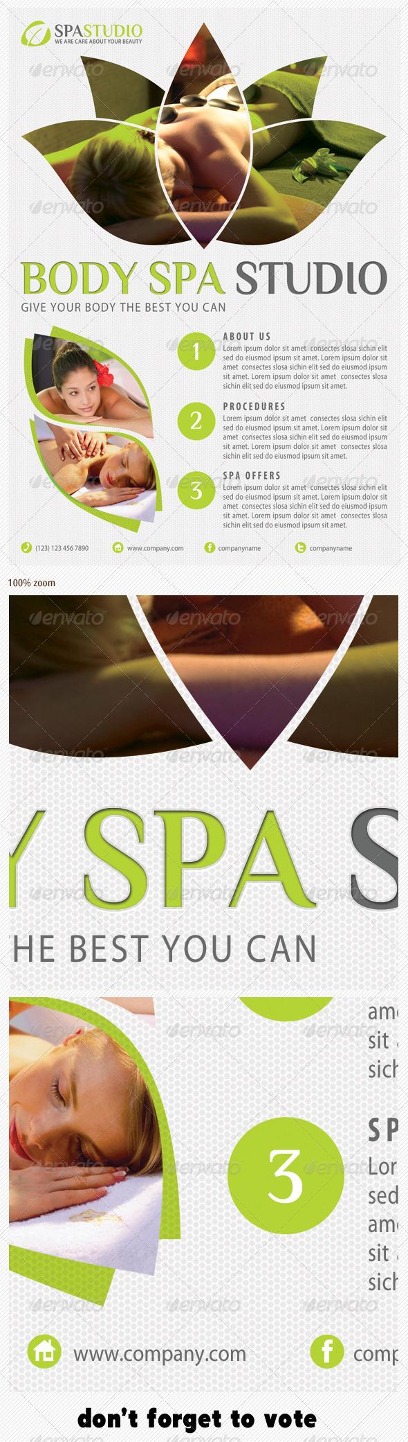 GraphicRiver Spa Studio Flyer 12 5838703