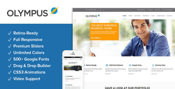 Olympus - Responsive Multi-Purpose Wordpress Theme - Business Corporate