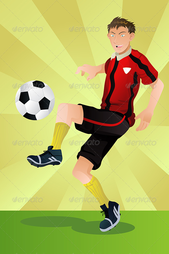 GraphicRiver Soccer Player 5652342