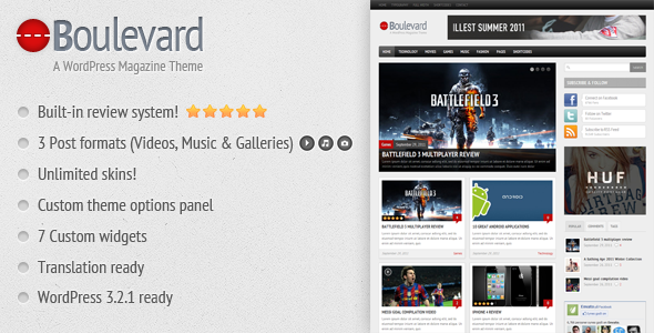 Boulevard - A WordPress Magazine Theme - ThemeForest Item for Sale