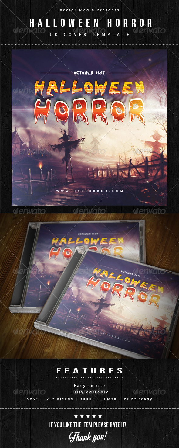 GraphicRiver Halloween Horror Cd Cover 5800305