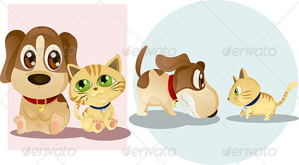 GraphicRiver Dog and Cat 5691780
