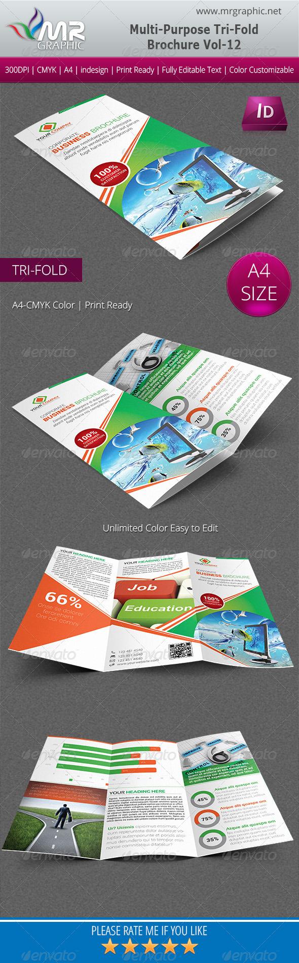 GraphicRiver Multipurpose Business Tri-Fold Brochure Vol-12 5840356