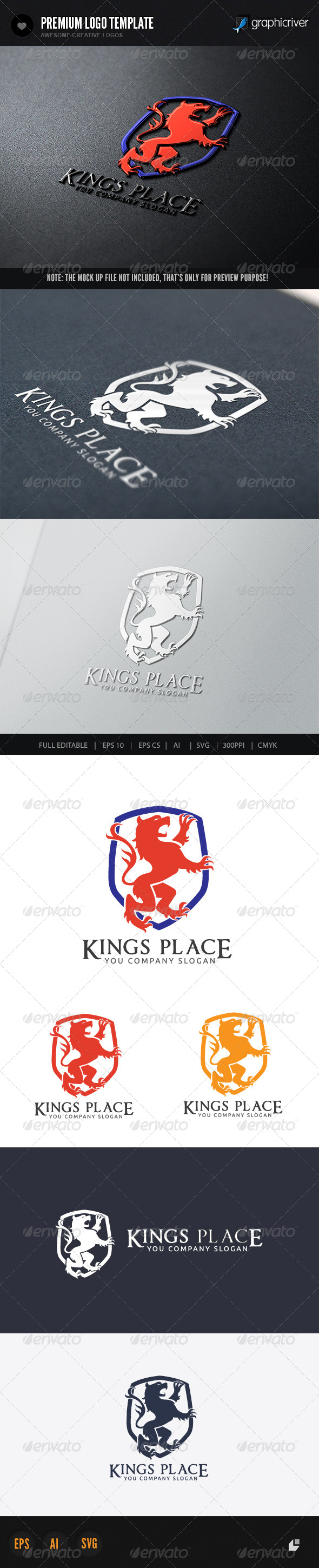 GraphicRiver Kings Place Logo 5840484