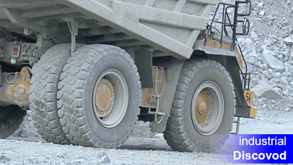 Heavy Mining Dump Trucks Moving Opencast 02