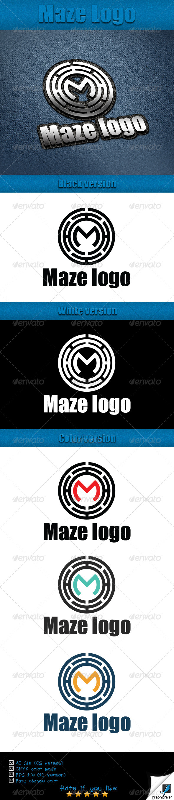 GraphicRiver Maze Logo Tamplate 5833132