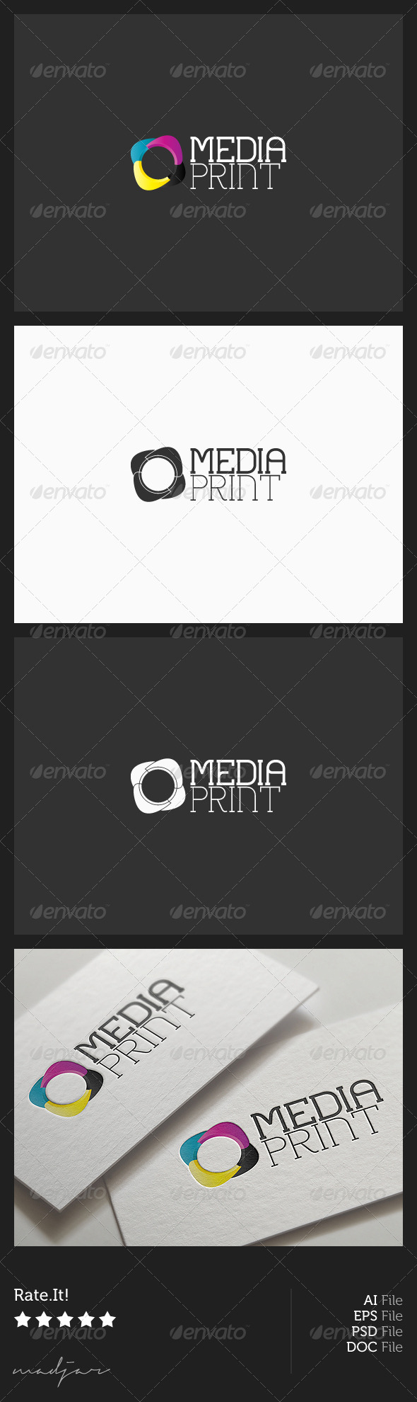Media Print Logo - Vector Abstract