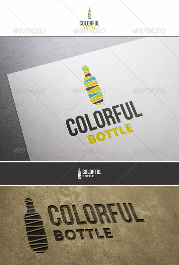 GraphicRiver Colorful Bottle Logo 5841057