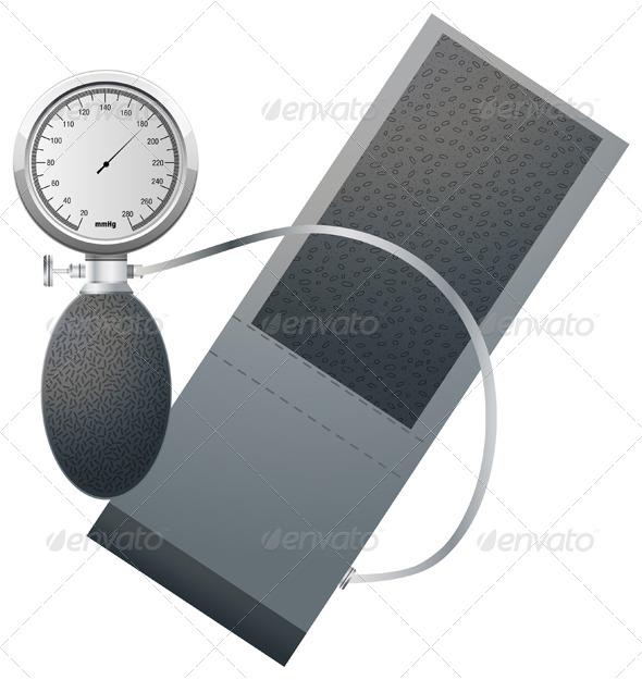 GraphicRiver Blood Pressure Monitoring Illustration 5841066