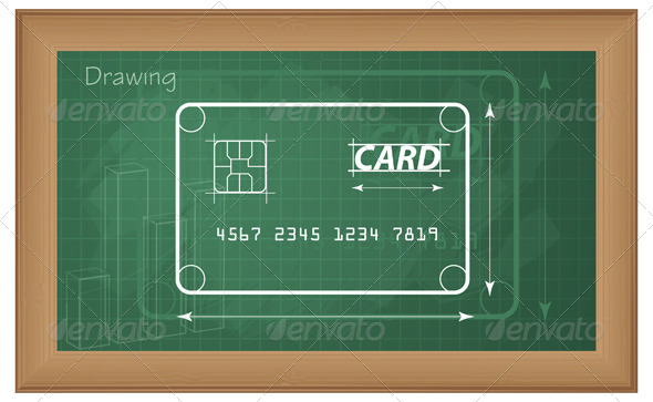 GraphicRiver Explaining Credit Card Mechanism Illustration 5841074