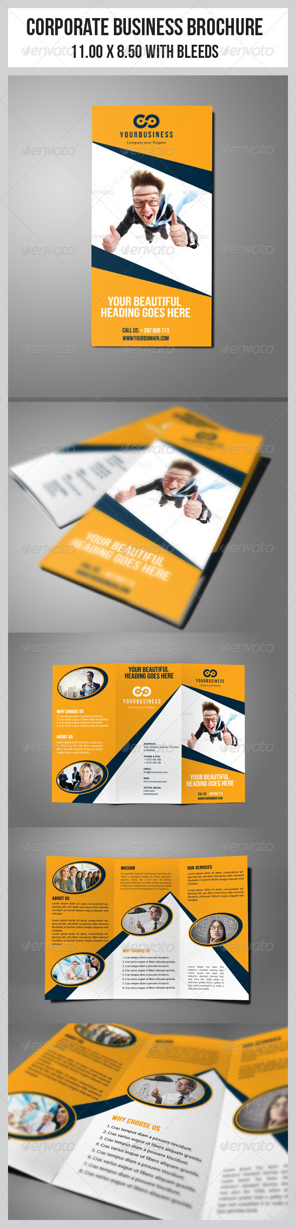 Multipurpose  Business Tri-Fold Template - Corporate Brochures