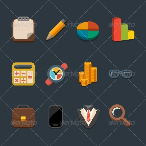 GraphicRiver Business Icon Set 5841699