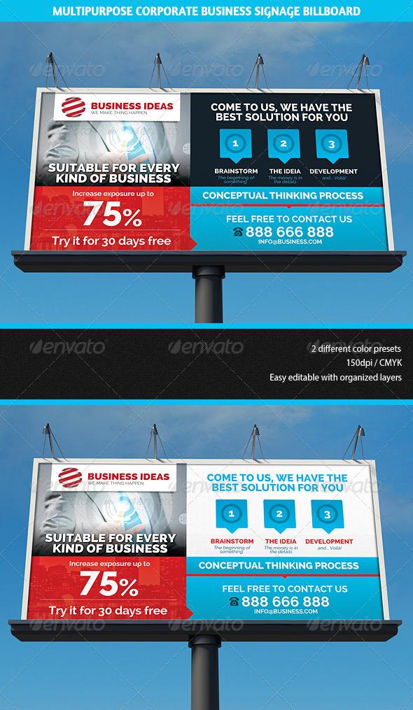 GraphicRiver Multipurpose Corporate Business Signage Billboard 5841797