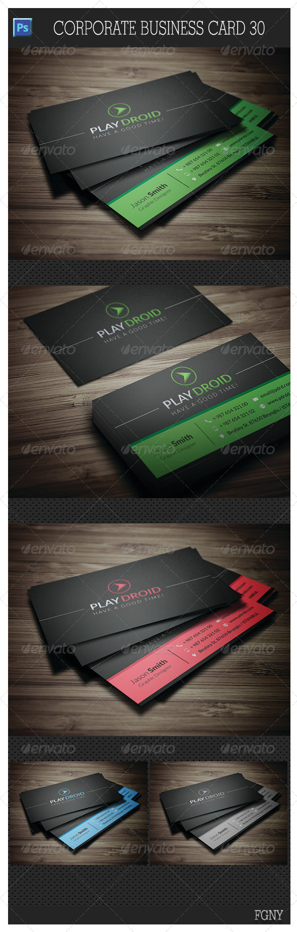 GraphicRiver Corporate Business Card 30 5841909
