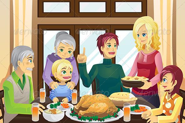 GraphicRiver Thanksgiving Family Dinner 5841921