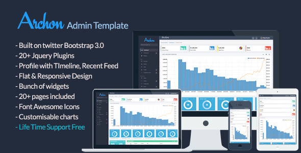 ThemeForest Archon Flat Responsive Admin Template 5831779