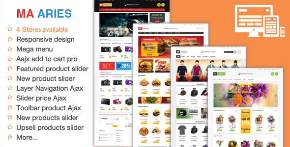 01 home. large preview - Aries - Multi Store Responsive Magento Theme