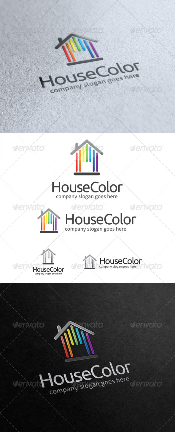 GraphicRiver House Color Logo 5842526