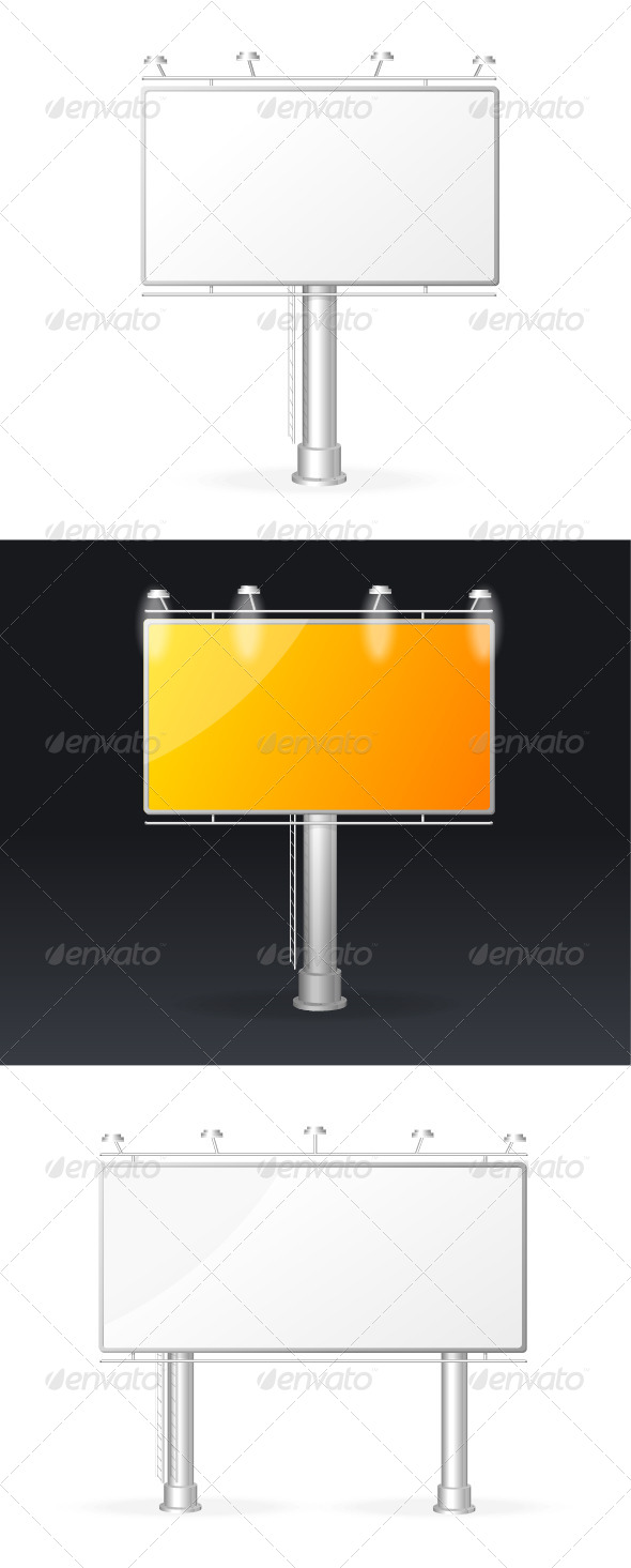 GraphicRiver Vector White Billboards Screen Templates Set 5842557