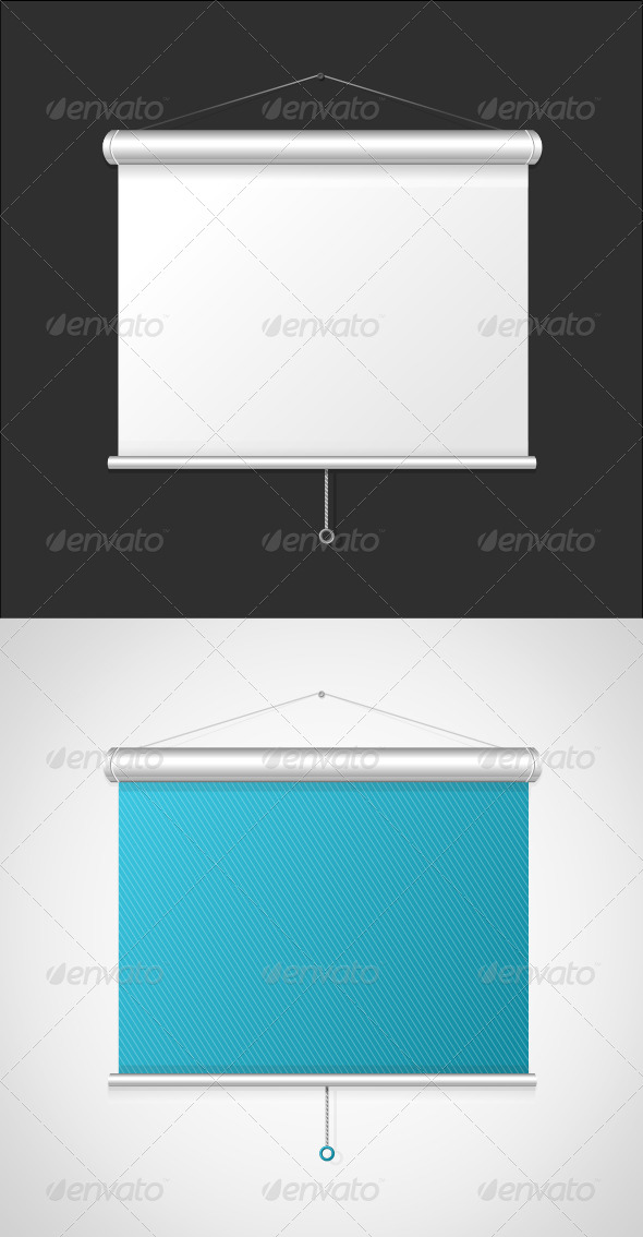 GraphicRiver Blank Roll Up Posters Set 5842566